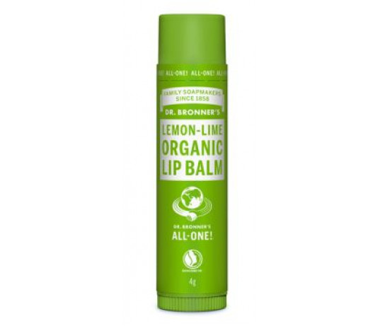 Ekologiškas lūpų balzamas Dr.Bronner's Lemon-Lime, 4g
