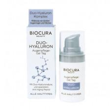 Biocura Duo-Hyaluron itin turtingos sudėties paakių gelis 15ml.