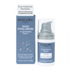 Biocura Duo-Hyaluron itin turtingos sudėties paakių kremas 15ml.