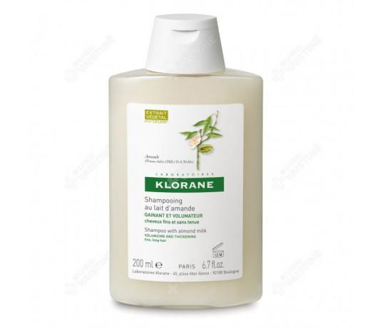 KLORANE apimties suteikiantis šampūnas su migdolų pieneliu