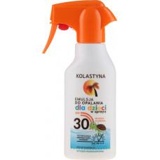 KOLASTYNA purškiamas losjonas nuo saulės vaikams SPF 30 200 ml.