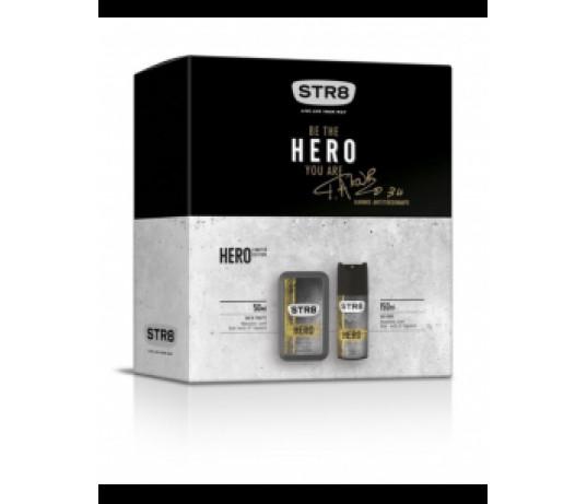 STR8 HERO EDT 50ml. + purškiamas dezodorantas 150ml.
