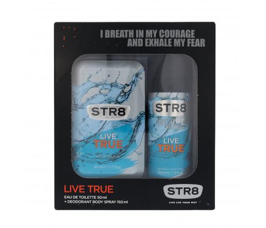 STR8 Live True EDT50ml. +purškiamas dezodorantas 150ml.